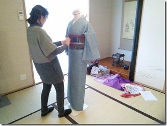 袋帯の角出しを練習中(^O^)/♪