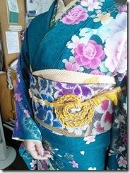 振袖の帯締めを編んで (2)