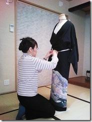美和きもの教室の着付コーステスト (2)