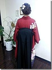 ハーツヘアーズ沼田店に袴の出張着付 (2)