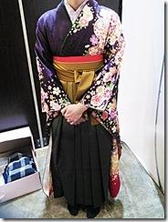 フォレオのガーデンエス美容室へ袴を着付に (2)
