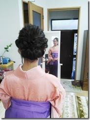 卒業式に袴着付を (2)