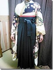 大町東のエボニー美容室へ袴の出張着付 (2)