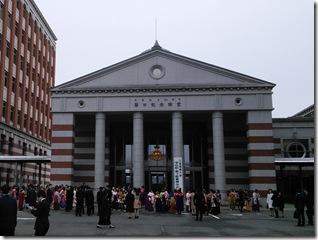 広島国際大学に袴の出張着付 (2)
