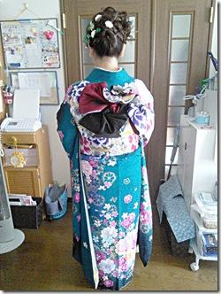 振袖の帯締めを編んで (3)