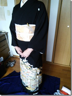 着物で息子さんの結婚式に (3)