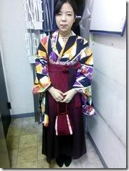ハーツヘアーズ沼田店に袴の出張着付 (3)