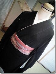 礼装着の着付練習 (3)