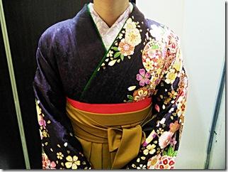 フォレオのガーデンエス美容室へ袴を着付に (3)
