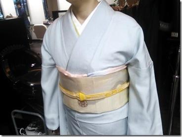 ハーツヘアーズに袴と訪問着の出張着付 (3)