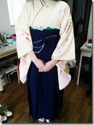 広島国際大学に袴の出張着付 (3)