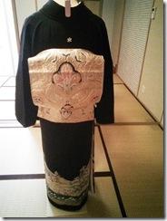 礼装着の着付練習 (4)