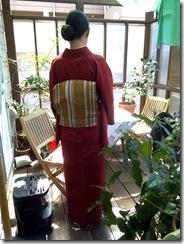 気になるオープンハートカフェに出張着付 (4)