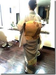 ハーツヘアーズに袴と訪問着の出張着付 (4)