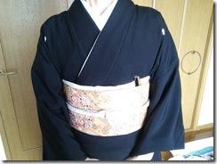 黒留袖で息子さんの結婚式に(^O^)/♪
