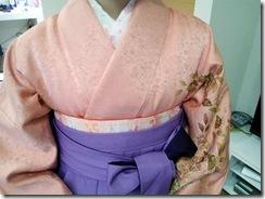 卒業式に袴着付を (5)