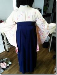 広島国際大学に袴の出張着付 (5)