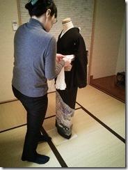 礼装着の着付練習 (5)