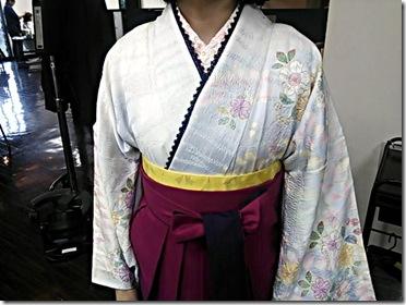 ハーツヘアーズに袴と訪問着の出張着付 (6)