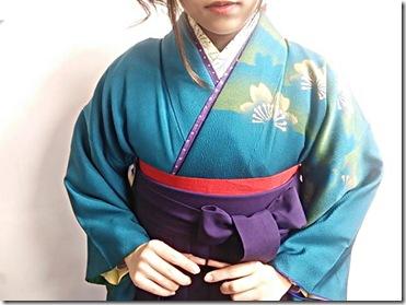 ハーツヘアーズに袴と訪問着の出張着付 (9)