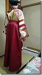 かわいい袴出張着付