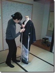 礼装着の着付練習