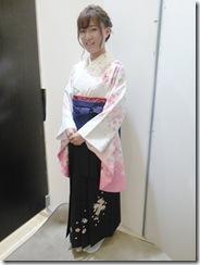 広島大学の卒業式に袴姿で