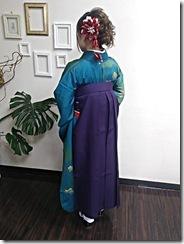 ハーツヘアーズに袴と訪問着の出張着付