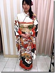 謝恩会に袴から振袖に(^o^)♪