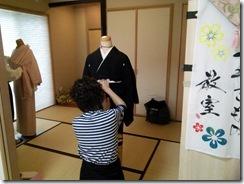 ダブル美容師さんの他装着付練習 (2)