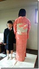 お子様の入学式に着物で (2)