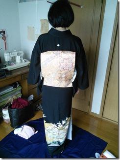 黒留袖で結婚式へ (2)