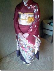 三瀧荘へご親族様の出張着付に (2)