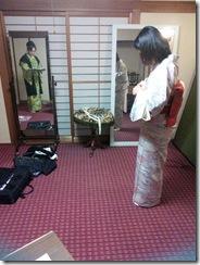 小紋に名古屋帯のテストを高須教室で (2)