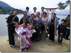 美和きもの教室で世界遺産の宮島へ (3)