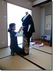 留袖の着付テスト (3)