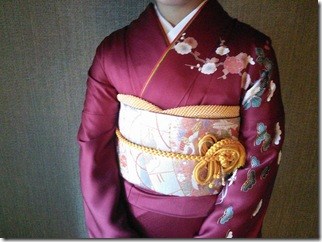 三瀧荘へご親族様の出張着付に (3)
