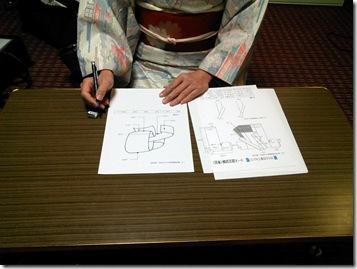 小紋に名古屋帯のテストを高須教室で (3)