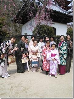 美和きもの教室で世界遺産の宮島へ (4)