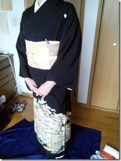 黒留袖で結婚式へ (4)