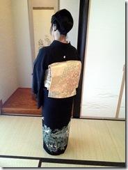 振袖と黒留袖でご親族の結婚式に (8)