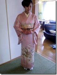 大塚のご自宅へ出張着付(^o^)入学式に訪問着で (2)