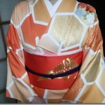 小紋に二重太鼓で卒業式へ(^o^)♪