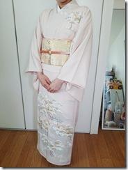 着物でお子様の入学式へ(*^^*)♪