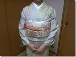 辻が花の訪問着でお子様の入学式へ(*^^*)♪