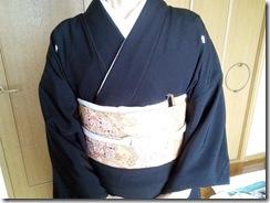黒留袖で結婚式へ(^o^)♪