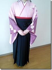 袴で広大の卒業式に