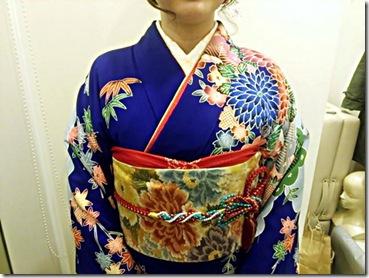 着物で三瀧荘の結婚式へ