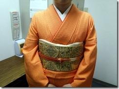 お母様の着物で入学式へ (2)