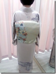 出張着付で逆回転の着物帯 (3)